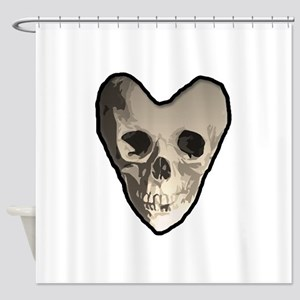Skullheart Shower Curtain