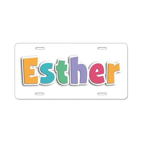 Esther Spring11 Aluminum License Plate