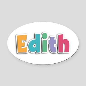 Edith Spring11 Oval Car Magnet