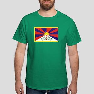 Tibet Flag Dark T-Shirt