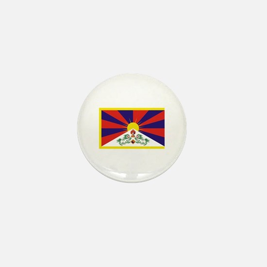 Tibet Flag Mini Button