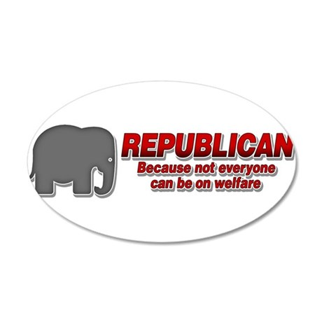 REPUBLICAN quote 35x21 Oval Wall Decal