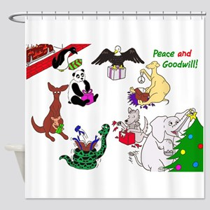 Christmas Card For The World Shower Curtain
