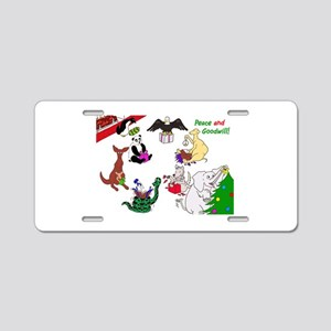 Christmas Card For The World Aluminum License Plat