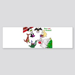 Christmas Card For The World Sticker (Bumper)