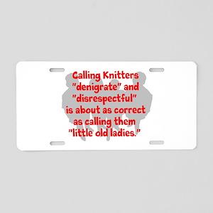 denigrate knitters Aluminum License Plate