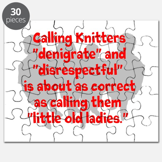 denigrate knitters Puzzle
