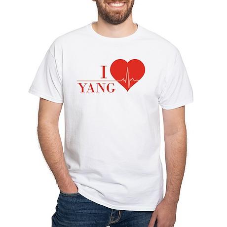 I love Yang White T-Shirt