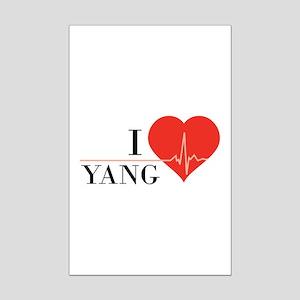 I love Yang Mini Poster Print