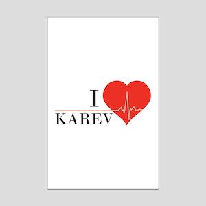 I love Karev Mini Poster Print