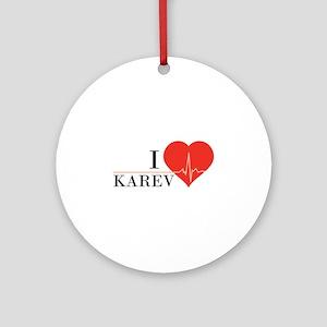 I love Karev Ornament (Round)