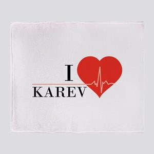 I love Karev Throw Blanket
