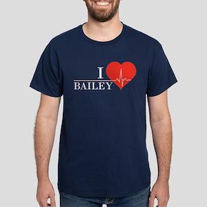 I love Bailey Dark T-Shirt