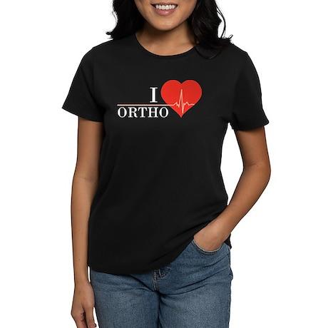 I love Ortho Women's Dark T-Shirt