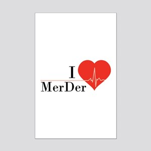 I love MerDer Mini Poster Print