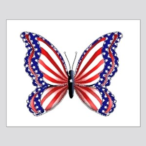 Patriotic Butterfly Small Poster