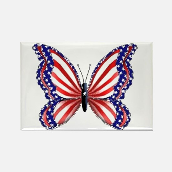 Patriotic Butterfly Rectangle Magnet (10 pack)