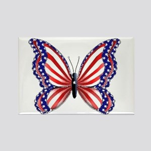 Patriotic Butterfly Rectangle Magnet