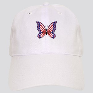 Patriotic Butterfly Cap