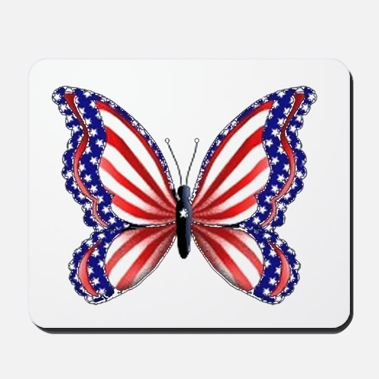Patriotic Butterfly Mousepad