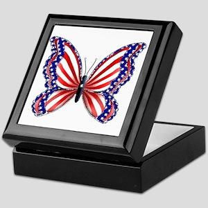Patriotic Butterfly Keepsake Box