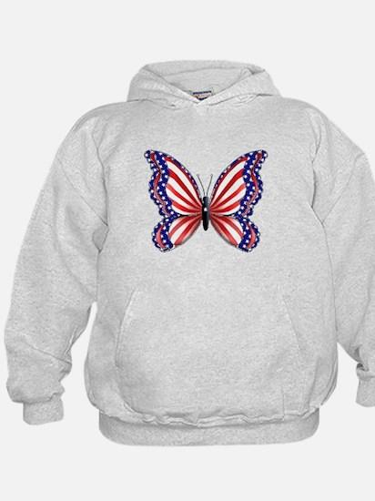 Patriotic Butterfly Hoodie