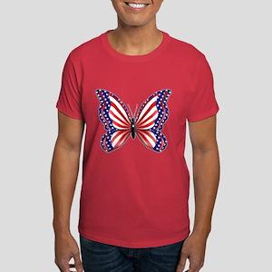 Patriotic Butterfly Black T-Shirt