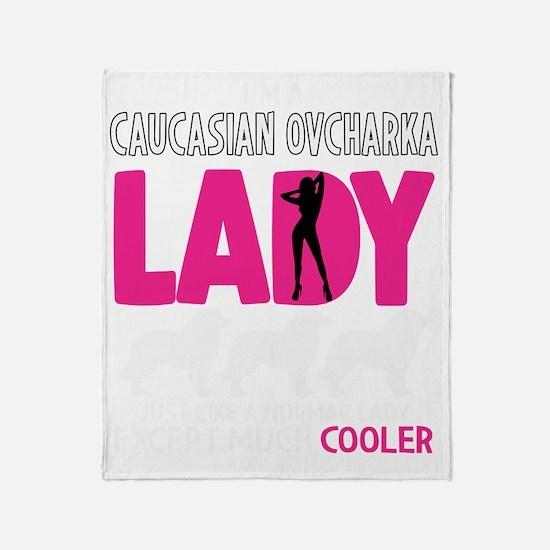 Cute Caucasian ovcharka Throw Blanket