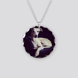 The Whippet Is In Necklace Circle Charm