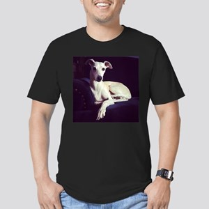 The Whippet Is In Men's Fitted T-Shirt (dark)
