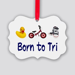 Born to Tri Picture Ornament
