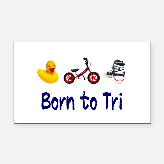 Born to Tri Rectangle Car Magnet