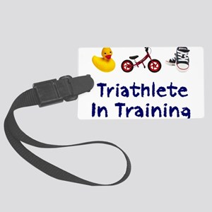 Triathlete in Training Large Luggage Tag