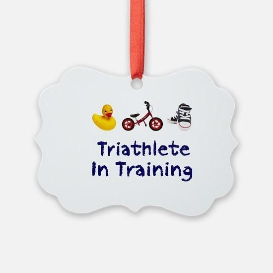 Triathlete in Training Ornament