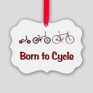Born to Cycle Picture Ornament