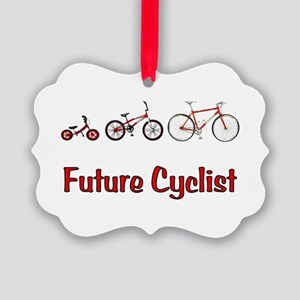 Future Cyclist Picture Ornament