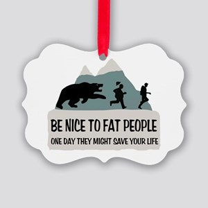 Fat People Picture Ornament