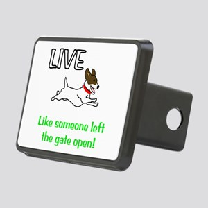 Live the gates open Rectangular Hitch Cover
