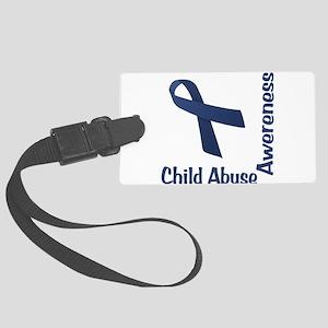 Child Abuse Awareness Large Luggage Tag