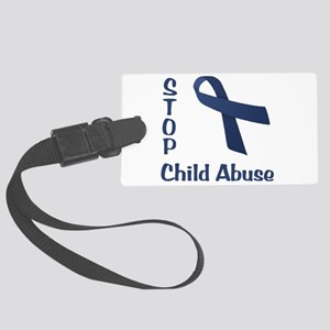 Stop Child Abuse Large Luggage Tag