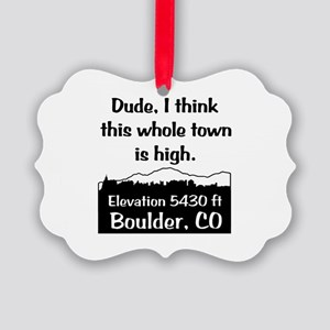 Boulder High Town Picture Ornament