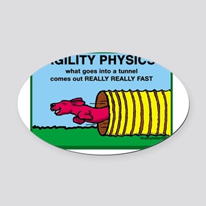 AgilityPhysics Oval Car Magnet