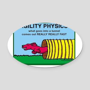 AgilityPhysics Oval Car Magnet