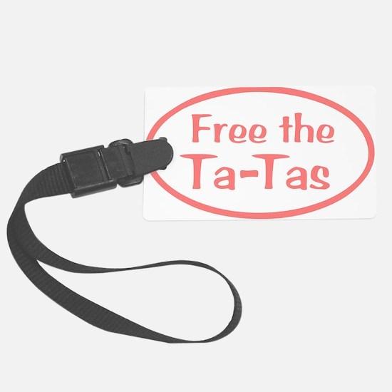 Free the Ta-Tas Luggage Tag