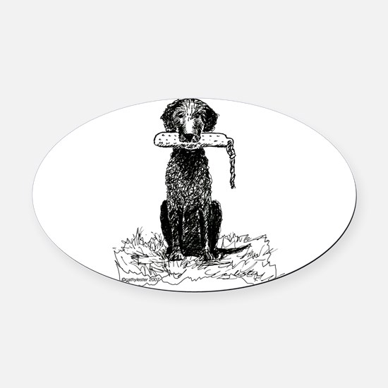 curly-coatBUMPER.pn... Oval Car Magnet