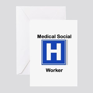 Medical Social Worker Greeting Cards (Pk of 10