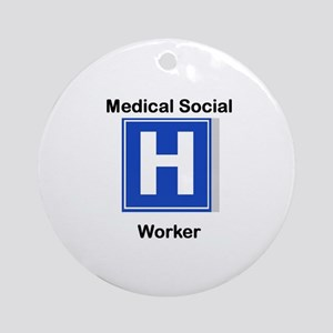 Medical Social Worker Ornament (Round)