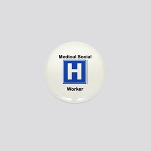 Medical Social Worker Mini Button