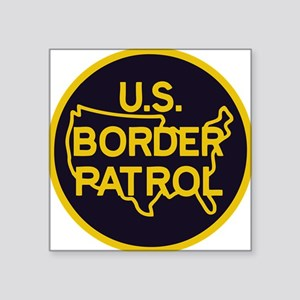 "Border Patrol Square Sticker 3"" x 3"""