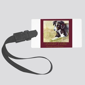 BorderCollieBeautyBrains Large Luggage Tag